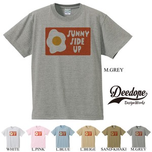 "【DEEDOPE】""SUNNY SIDE UP"" 半袖 プリント Tシャツ 目玉焼き"