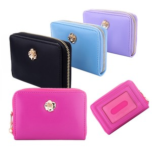 Commuter Pass Holder Attached Square Coin Case Flower Charm