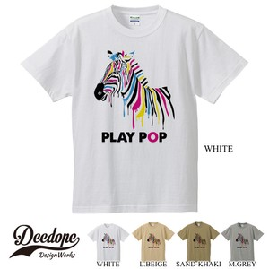 Pop Short Sleeve Print T-shirt Zebra