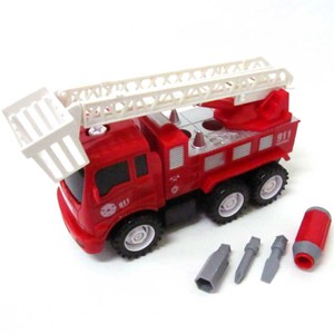 Model Car Educational Toy Assembly Track Ladder Truck
