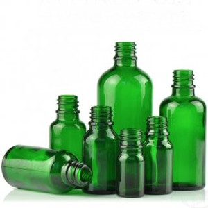 Green Glass Light Shielding Attached Cap Type Aroma Storage Container