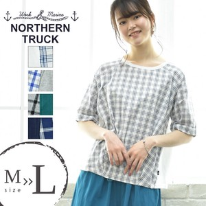 Rack Color Scheme Switching Pullover Blouse Leisurely Checkered Plain