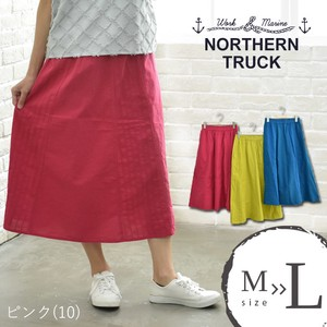 Rack Skirt Long Funwari Flare Bottom Pink