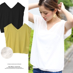 Dot V-neck Pullover Top
