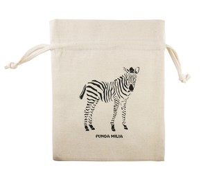 Pouch Pouch Cotton Animal Zebra