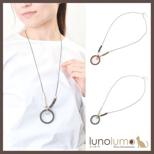 Colorful Chain Circle Pendant Necklace