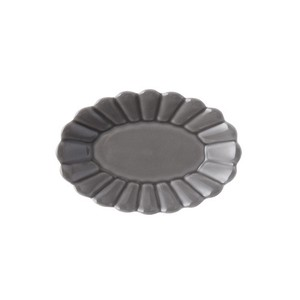 Gray Oval Plate