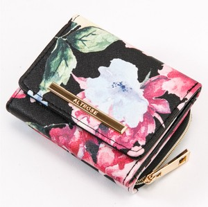 Watercolor flower Trifold Wallet Wallet Broom Ladies Wallet Coin Purse Compact