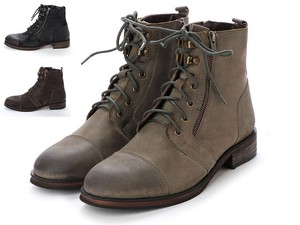 3 Colors Genuine Leather Men's Zipper Boots