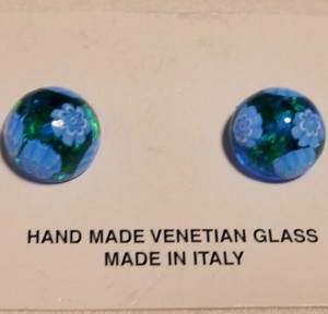 Genuine Glass Handmade Earring Italia Venetian Glass