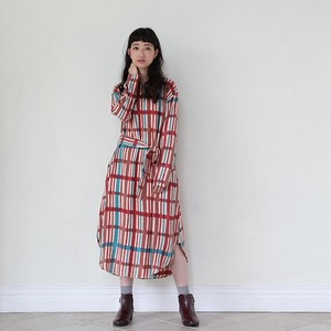 *11/1 SALE*<即納>[2018AW]ワンピース ドローイングチェック