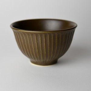 Mashiko Ware Rice Bowl Brown Mat