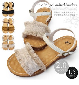 2018 S/S Daily Active Ethnic Sandal Fluffy Insole