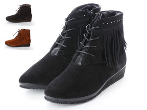 3 Colors Genuine Leather Tassel Lace Short Boots A/W