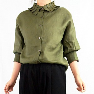 Clearance Sale Linen Frill Blouse