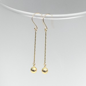 Yellow Gold Pierced Earring