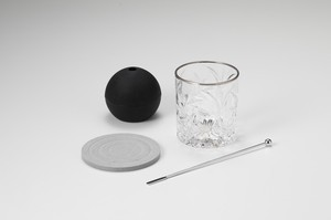 Home Diatomaceous Earth Coaster Attached Rock Glass Set