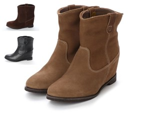 3 Colors Genuine Leather Heel Short Boots A/W