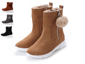 4 Colors Genuine Leather Waterproof Casual Fur Bonbon Short Boots A/W