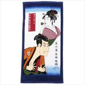 Japanese Craft Pop Mini Bathing Towel Ukiyoe(A Woodblock Print)