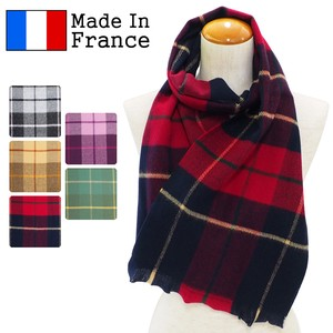 2018 A/W Scarf France Checkered Scarf