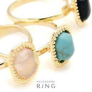 Oval Jewel Stone Ring Ring Exquisite
