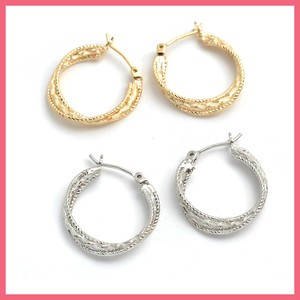 Triple Hoop Pierced Earring