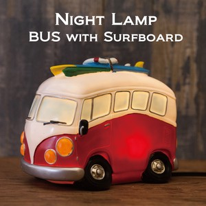 【LED】ナイトランプ[BUS with Surfboard]<アメリカン雑貨>
