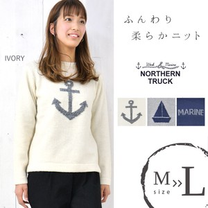 Rack Knitted Sweater Ikari Anchor Pattern Candy Beautiful