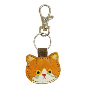 [ECOUTE! minette] Key Charm Cat color: brown, white