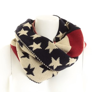 2018 A/W Knitted Snood America Flag Pattern United States