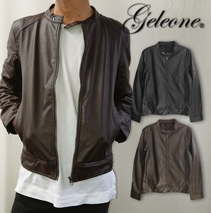 Men's Single Motorcycle Leather Jacket