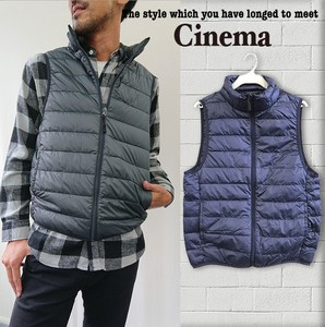 Men's A/W Light-Weight Down Vest Stand Color