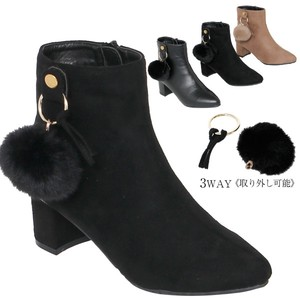 2018 Winter Boots Fur Bonbon Attached Short Boots