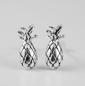 Silver Pierced Earring Pineapple