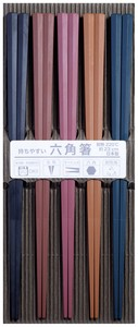 Chopstick Color Hexagon Chopstick Hexagon Five Colors