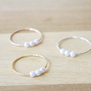 3 Colors Pearl Rope Ring