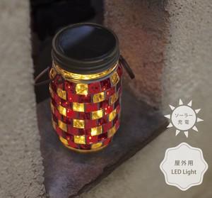 【フェアリーライト】LED モザイクガラス ソーラー ガーデンライト