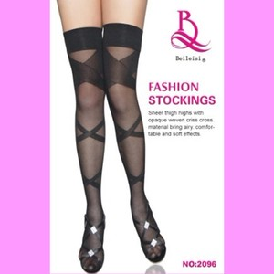 Pattern Attached Garter Stocking Sheer