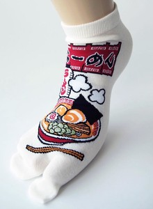 Ramen Ankle Socks Tabi Socks Sneaker for Men