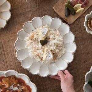 カネコ小兵製陶所 リンカ (輪花) 24cmプレート [日本製/美濃焼/洋食器]