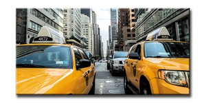 CANVAS ART<キャンバスアート>New York/Yellow Cab<ニューヨーク/イエローキャブ>