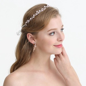 d1b591289a2d7 ホワイトダイヤピース入りウェディングヘアー飾り - ヘアバンド ヘアアクセサリー ピン留め 全1