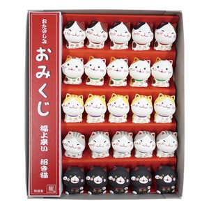 Beckoning cat Set with box Ornament