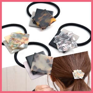 Triple Square Motif Hair Elastic