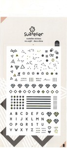 Sketch SEAL Notebook Icon Alphabet Diamond Decoration