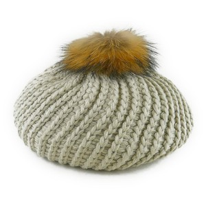Fur Twist Knitted Beret Young Hats & Cap