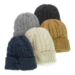 Lapel Closs Cable Knitted Watch Cap Young Hats & Cap