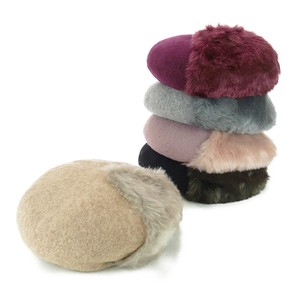 Solid Fur Beret Ladies Hats & Cap