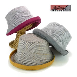 Checkered Brim Crochet Ladies Hats & Cap